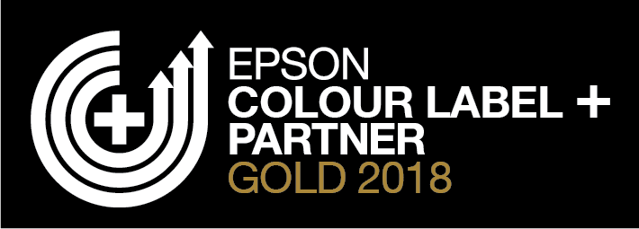 Epson Colour Label Partner Gold 2018 WhiteGoldOnBlack